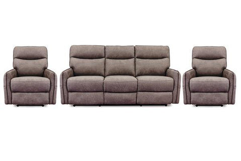 BROOKLYNN 3PC Leather Recliner Suite Deal