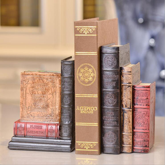 Antique Book Bookends Set of 2
