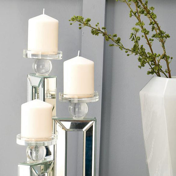 Darcie Mirrored Candle Holder Set of 3