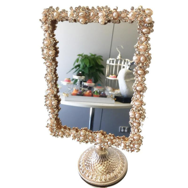 Camila Classic Makeup Sided Mirror Desk Table Stand Rotatable Bedroom Cosmetic Gift Adore Home Living