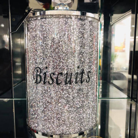 Crushed Diamond Biscuit Jar