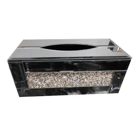 Crushed Diamond Mirrored Tissue Box