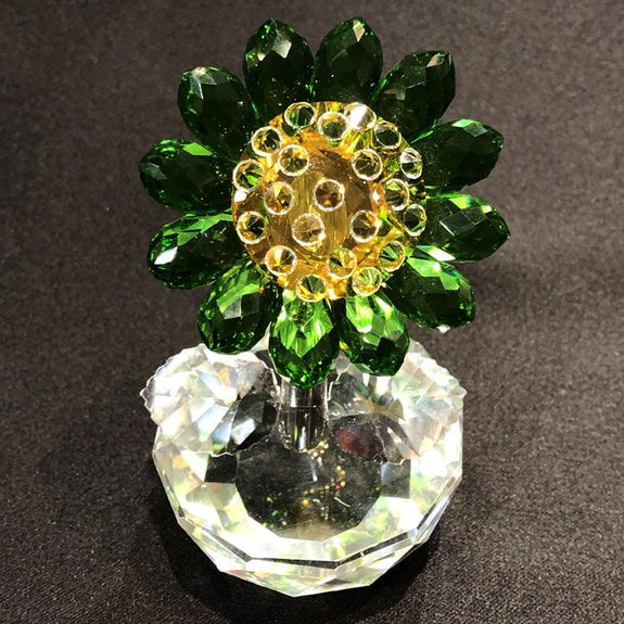 Crystal Sunflower Crystal Decor Adore Home Living