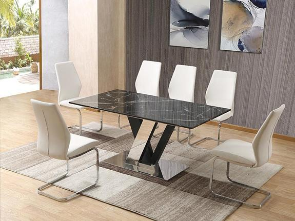 Dennis Marble Dining Table Dining Table Adore Home Living