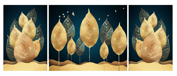 Diamond Painting Set of 3 The Desert Leaves