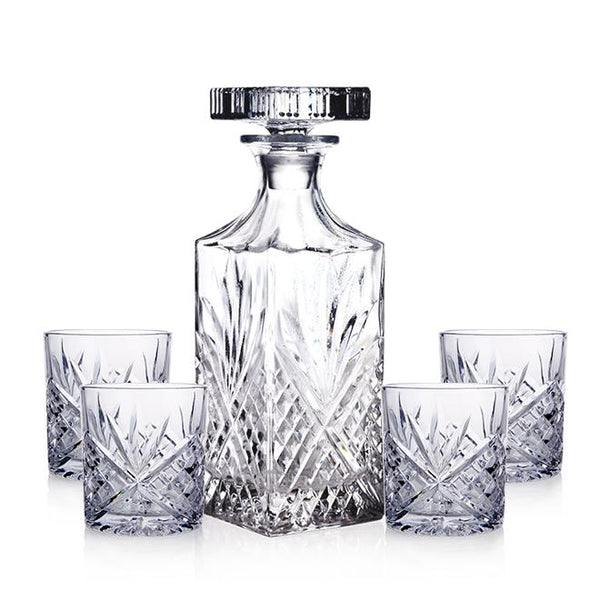Edward Decanter Set: Decanter & 6 Tumblers Decor Gift Set Adore Home Living