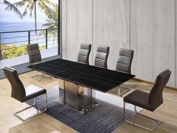 Franklin Marble Extension Dining Table - adore-online.myshopify.com  -  Dining Table