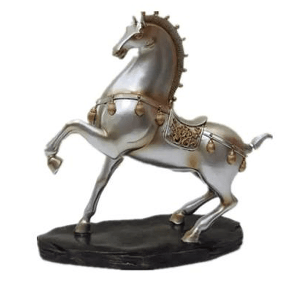 Antique Horse Sculpture - Chrome -