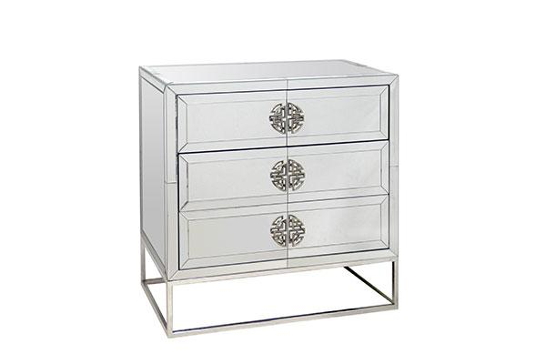Kiera Mirrored Side Table Adore Home Living Furniture