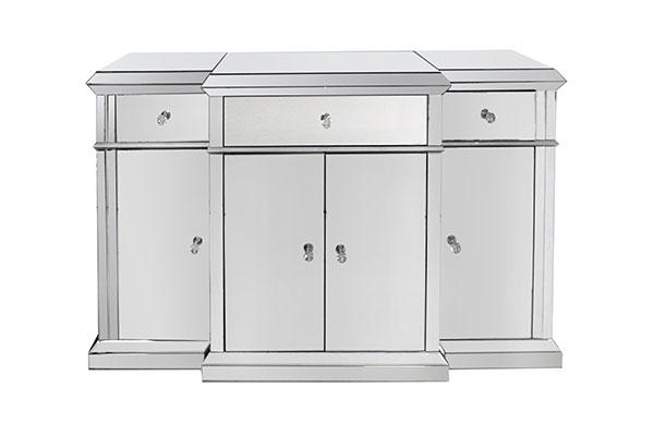 Vienna Mirrored 4 Doors Buffet Adore Home Living Furniture