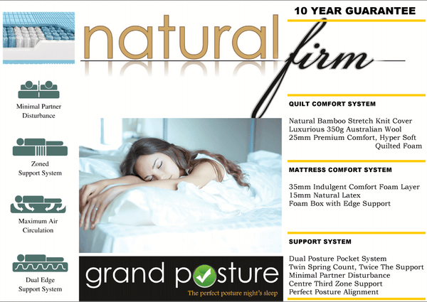 GP Natural Firm Mattress - Adore Home Living Perth WA