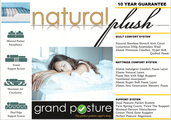 GP Natural Plush Mattress - Adore Home Living Perth WA