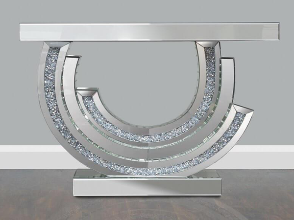 Gianna Mirrored Console Table