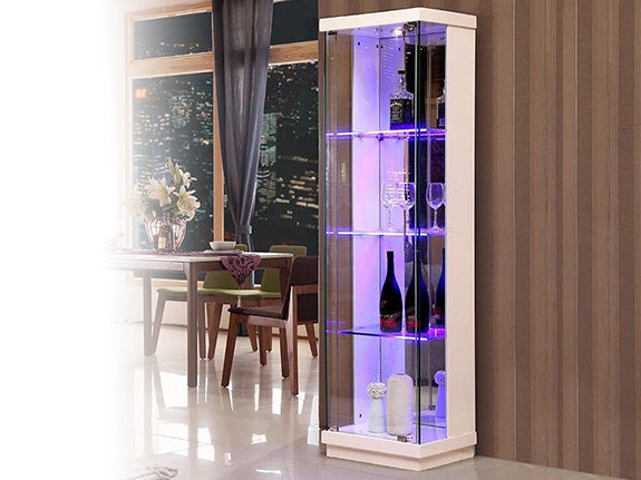 Grant Glass Display Showcase Cabinet -Single Door Adore Home Living Perth Furniture Homeware and Decor