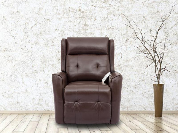 Granville Single Electric Lift Chair Leather Lounge Adore Home Living