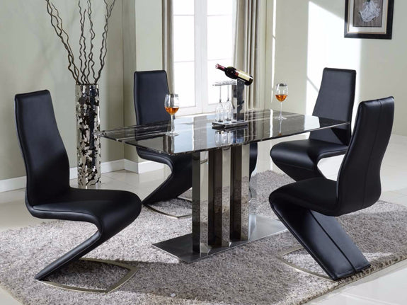 Sabrina 7 Piece Marble Dining Set - Adore Home Living Perth WA