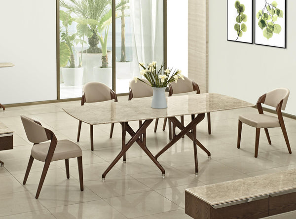 HAMILTON Marble Top Dining Set