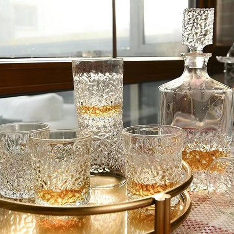 Jeffrey Decanter Set: Decanter & 6 Tumblers