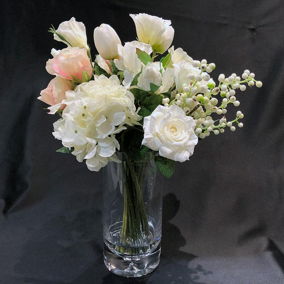 Mixed Artificial flowers with Vase Adore Home Living