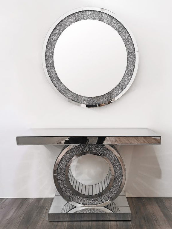 Morris Crushed Diamond Mirror Console Adore Home Living Perth Furniture Store Homewares & Decor