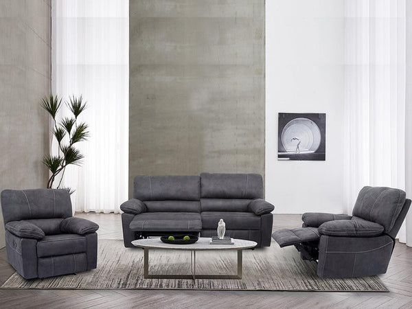 Noah 3PC Fabric Recliner Suite - Adore Home Living Perth WA