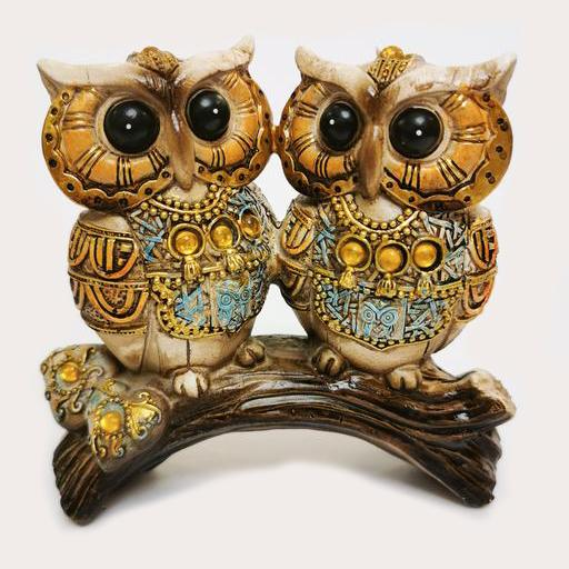 Big Eyed Owl Couple Decor Ornament Adore Home Living