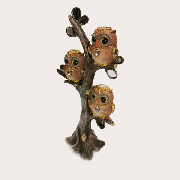 Owls on Branch Decor Ornament Adore Home Living