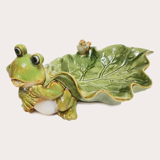 Ceramic Frog Plate Decor Ornament Adore Home Living