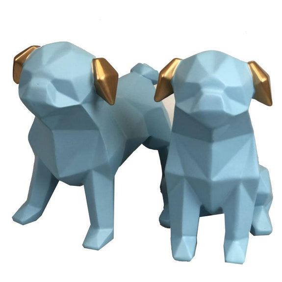 Pair of little Puppy Decor Ornament Adore Home Living