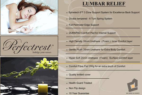 Perfectrest Lumbar Relief Mattress - Adore Home Living Perth WA