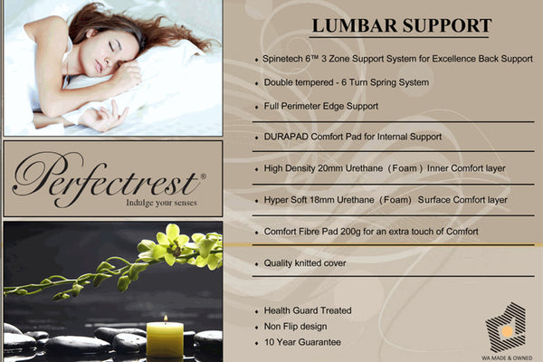 Perfectrest Lumbar Support Mattress - Adore Home Living Perth WA