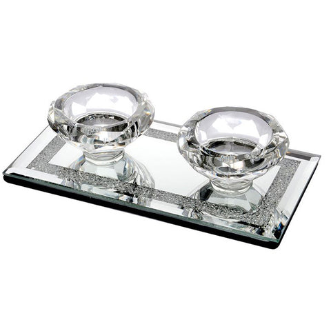 Reid Diamond Shape Candle Holder Set Of 2