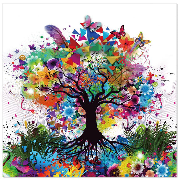 Colourful Tree Acrylic Wall Art - Adore Home Living Perth WA