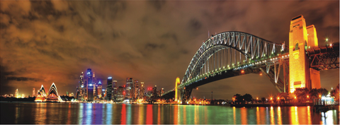 Sydney Bridge Acrylic Wall Art 180x60cm