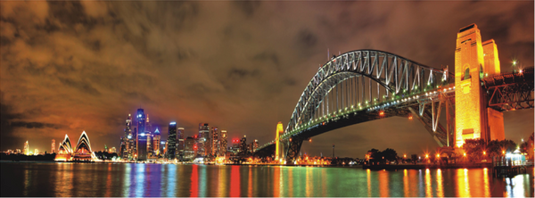 Sydney Bridge Acrylic Wall Art 180x60cm - Adore Home Living Perth WA