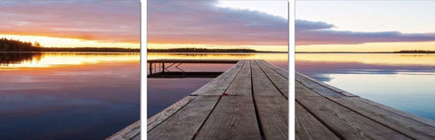 Jetty Sunset Acrylic Wall Art Set of 3 60x60cm