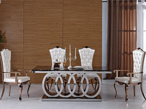 Sienna Marble Dining Table - Adore Home Living Perth WA