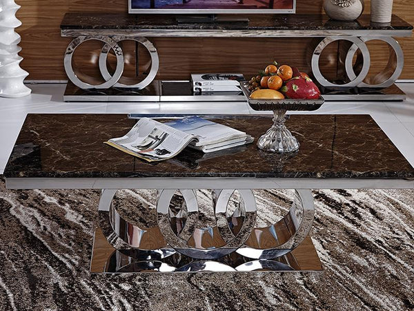 Sienna Marble Coffee Table - Adore Home Living Perth WA