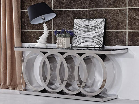 Sienna Marble Console Table