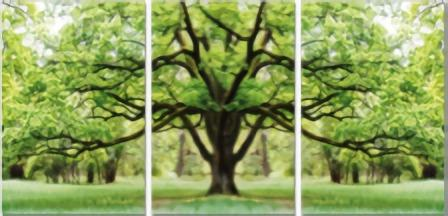 Giant Summer Tree Set of 3 60X60cm