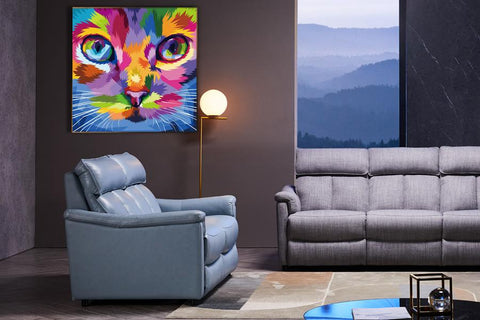 Acrylic Painting: Colourful Cool Cat