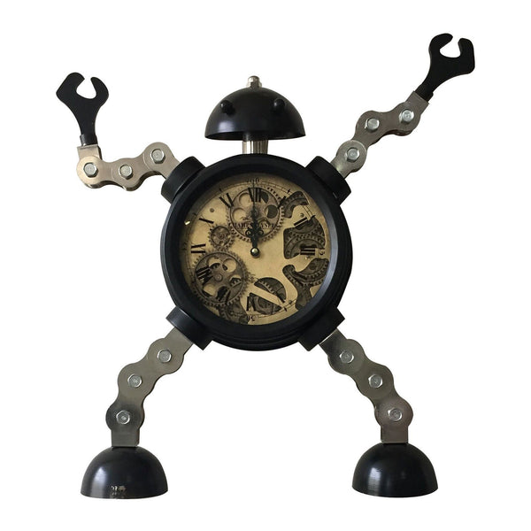 Captain Robot Mechanical Table Clock