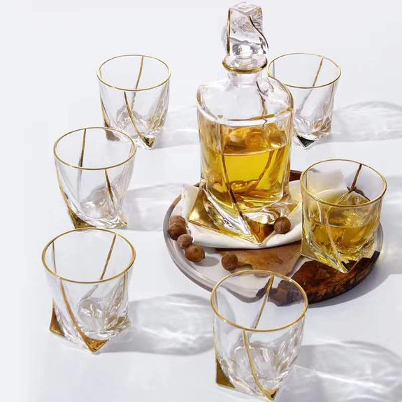 Decanter Set: Alice Decanter with 6 Tumblers Decanter Adore Home Living