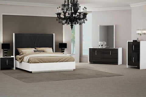 Zackary High Gloss 4 Piece Bedroom Suite