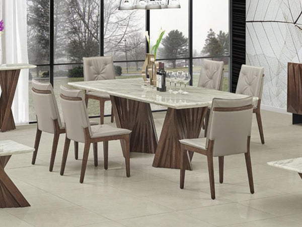 Alpha Marble Top Dining Set Dining Set Adore Home Living