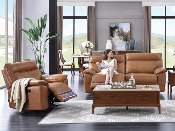Recliner Lounge: Attica 3PC Suites Leather Lounge Adore Home Living