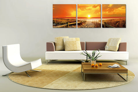 Sunset Beach Acrylic Wall Art Set of 3 - Order Only