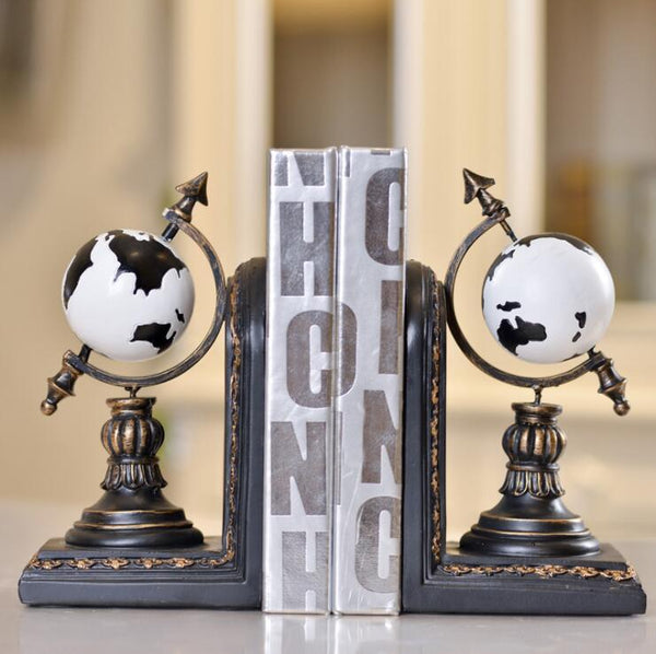 Globe Bookends World Map set of 2