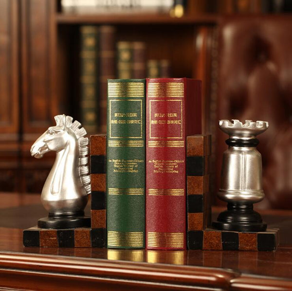 Chess Bookends Horse Knight set of 2