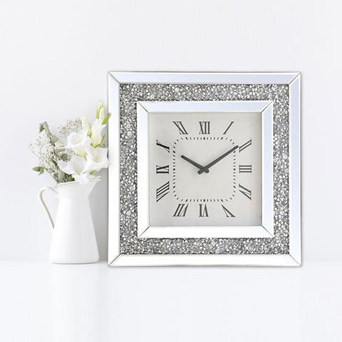 Diamante Crystal Clock